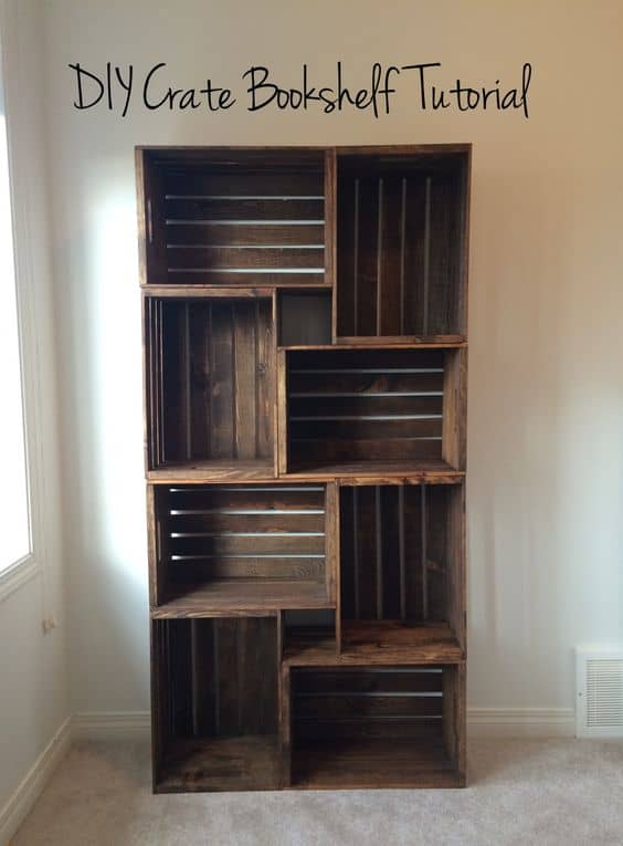 MATERIALIZE A DIY CRATE BOOKSHELF TUTORIAL