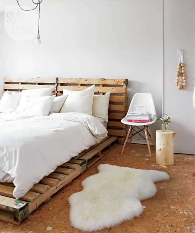 Inspirational Recycled Pallet Bed Frames homesthetics