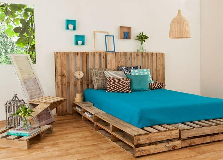 Simple Recycled pallet bed frames for your home hometshetics