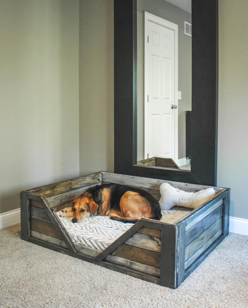 28. A COZY PALLET BED FRAME FOR YOUR FURRY FRIENDS