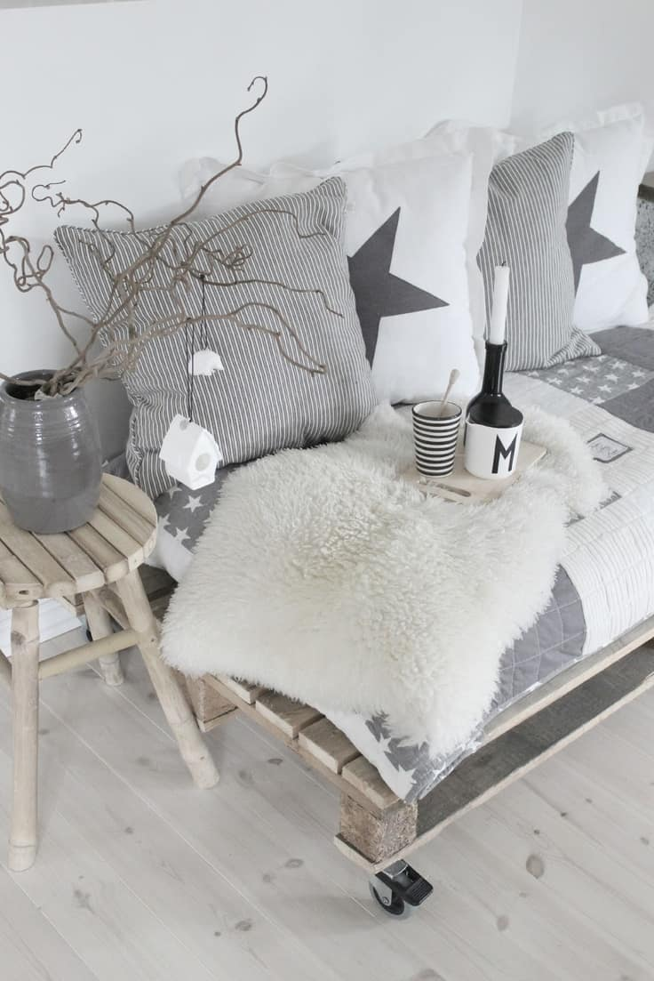 pallet furniture pinterest. NEUTRAL GREY TONES EXUDING A SCANDINAVIAN VIBE Pallet Furniture Pinterest