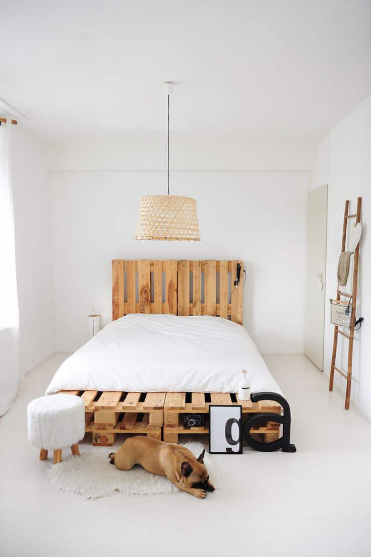 old pallet furniture. SIMPLE MINIMAL YET ELEGANT PALLET BED FRAME IN AN ALL WHITE DECOR CHOICE Old Pallet Furniture T