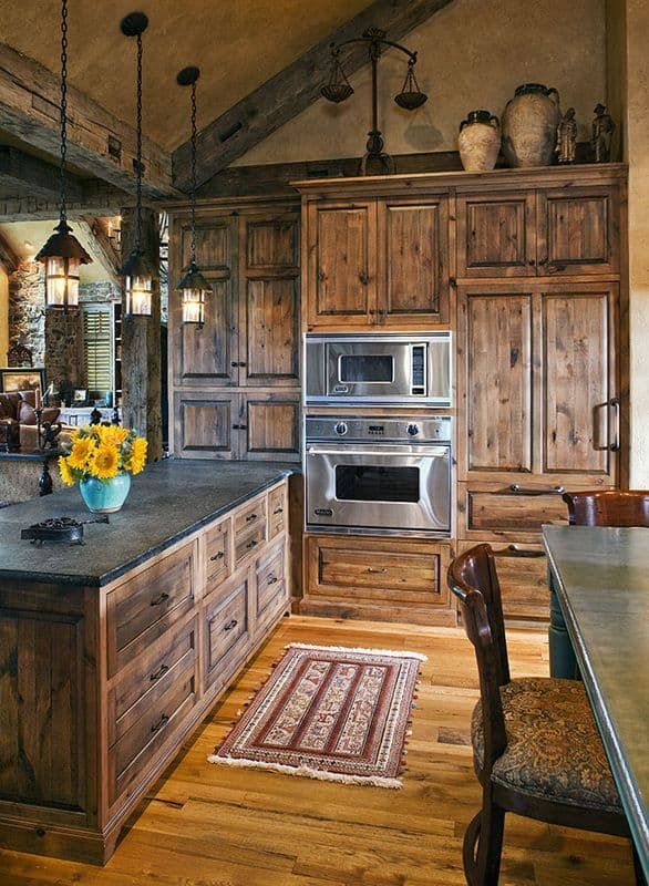 Delightful A VERY RUSTIC DOWN TO EARTH YET POWERFUL WOODEN KITCHEN DESIGN. Top 20 Most  Beautiful ...