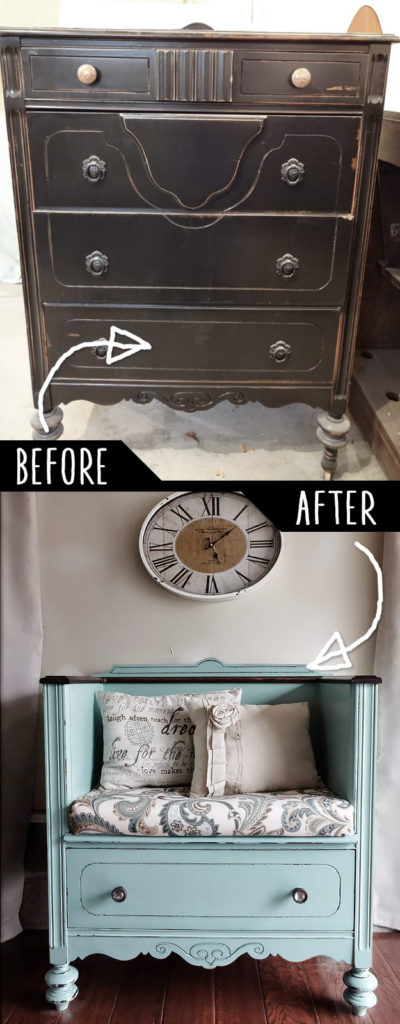 Unused Old Dresser Turned Bench Homesthetics Inspiring Ideas For Your Home