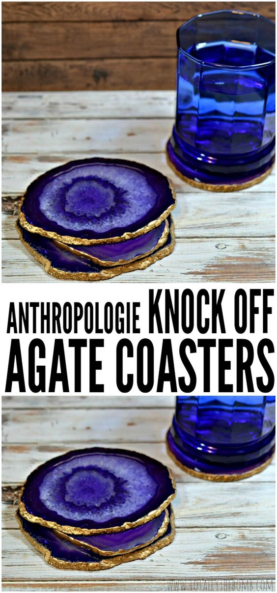 anthropologie knock off diy agate coasters