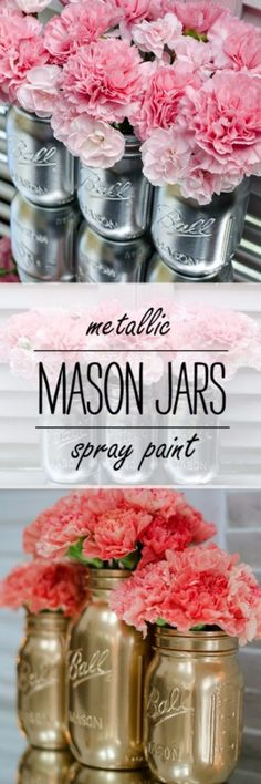 build epic metallic mason jars