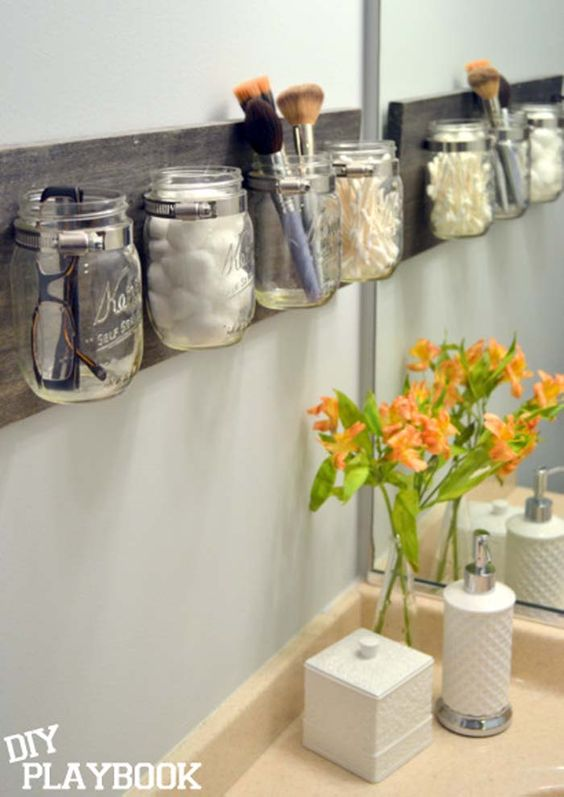 craft a mason jar diy organizer for your bathroom