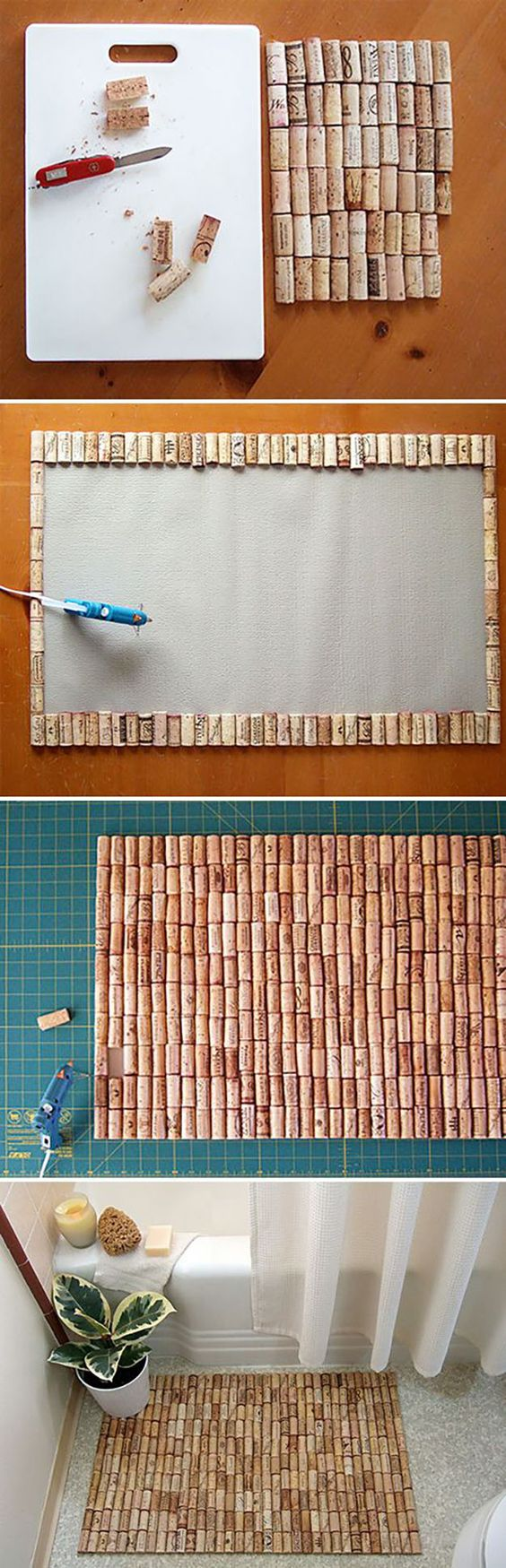 create a brilliant cork rug