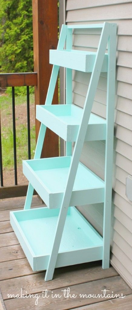 create an epic diy ladder shelf