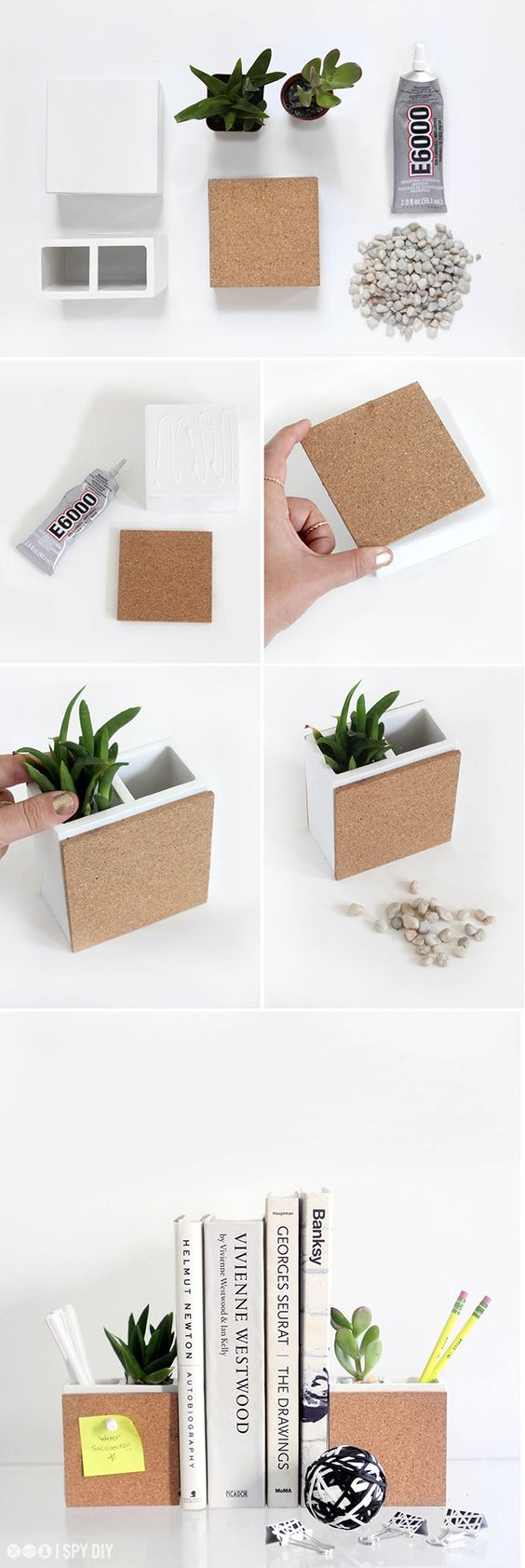 create epic succulent planter bookends