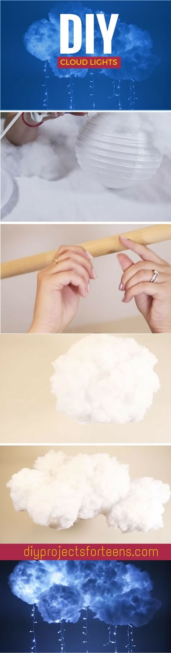 diy magic light cloud fixture