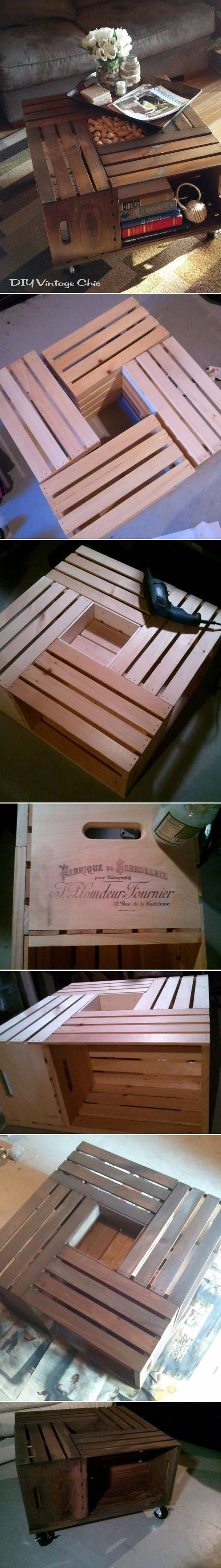epic wooden boxes diy coffee table design