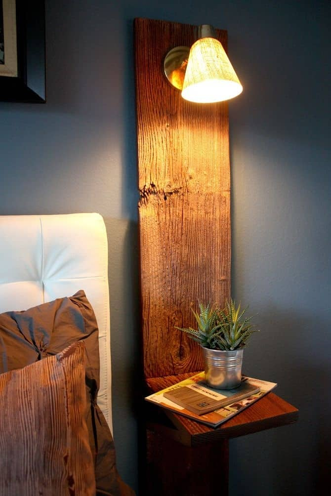 9. NIGHTSTAND SHAPED AROUND A BRILLIANT PIECE OF WOOD