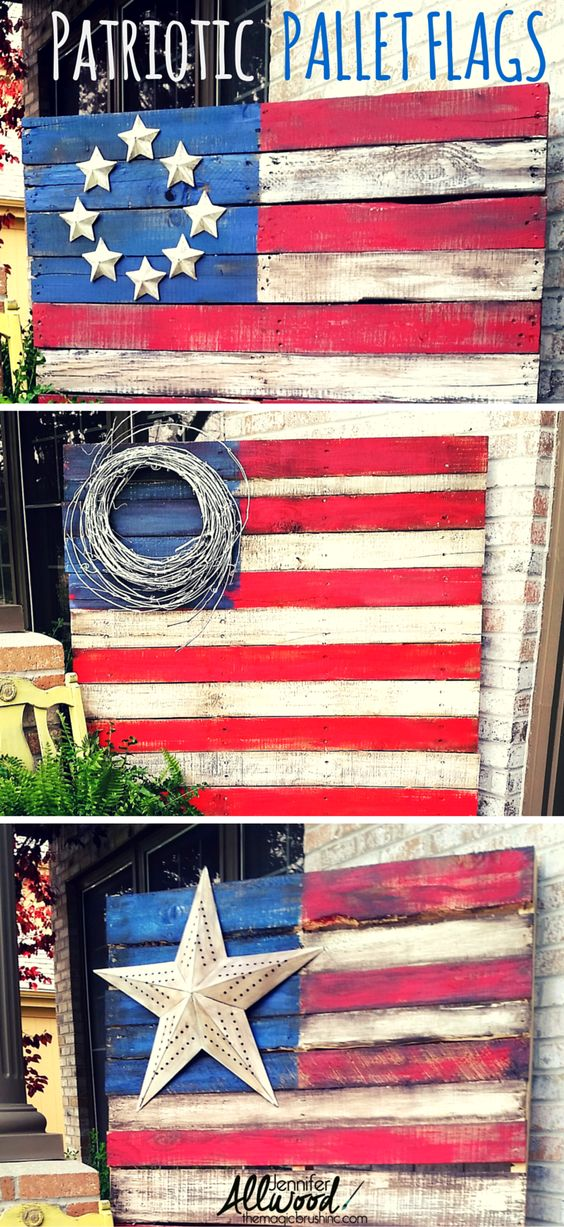 patriotric pallet flag independence day