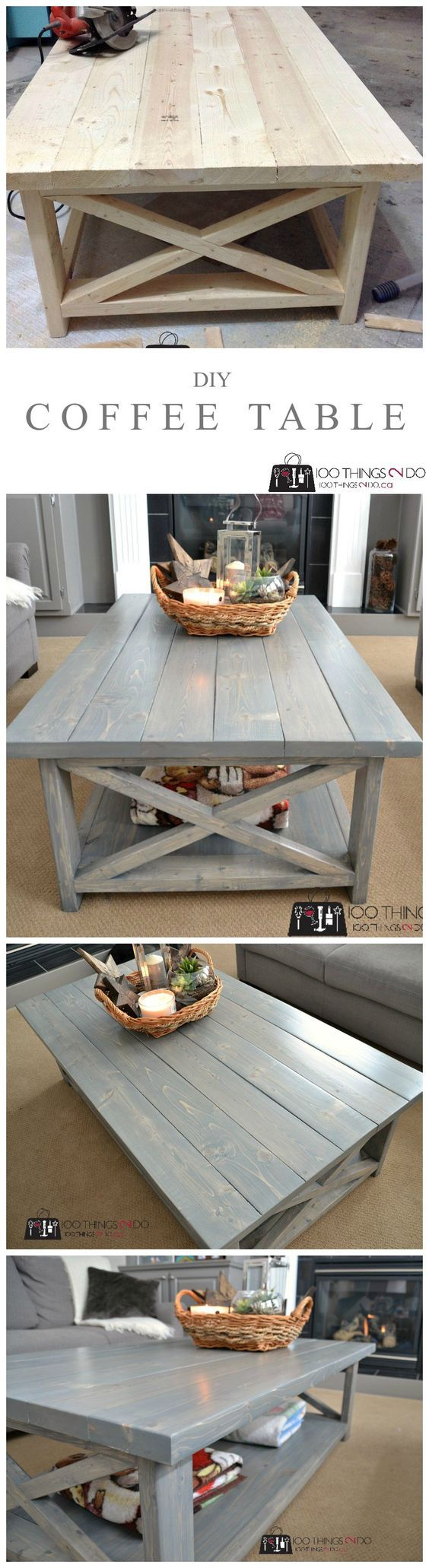 realize an epic Rustic X Diy Coffee table