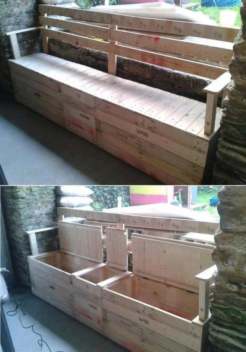 realize an epic pallet bench with storage