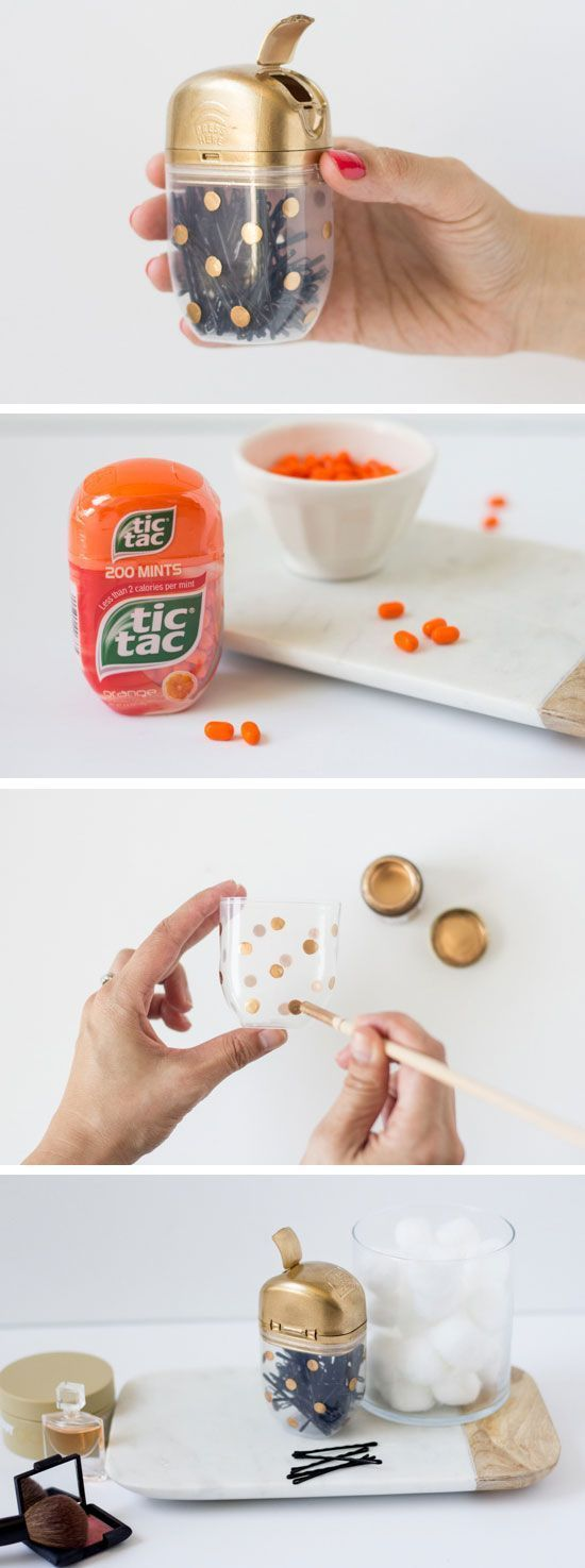 upcycle a tic tac into a bobby pin case