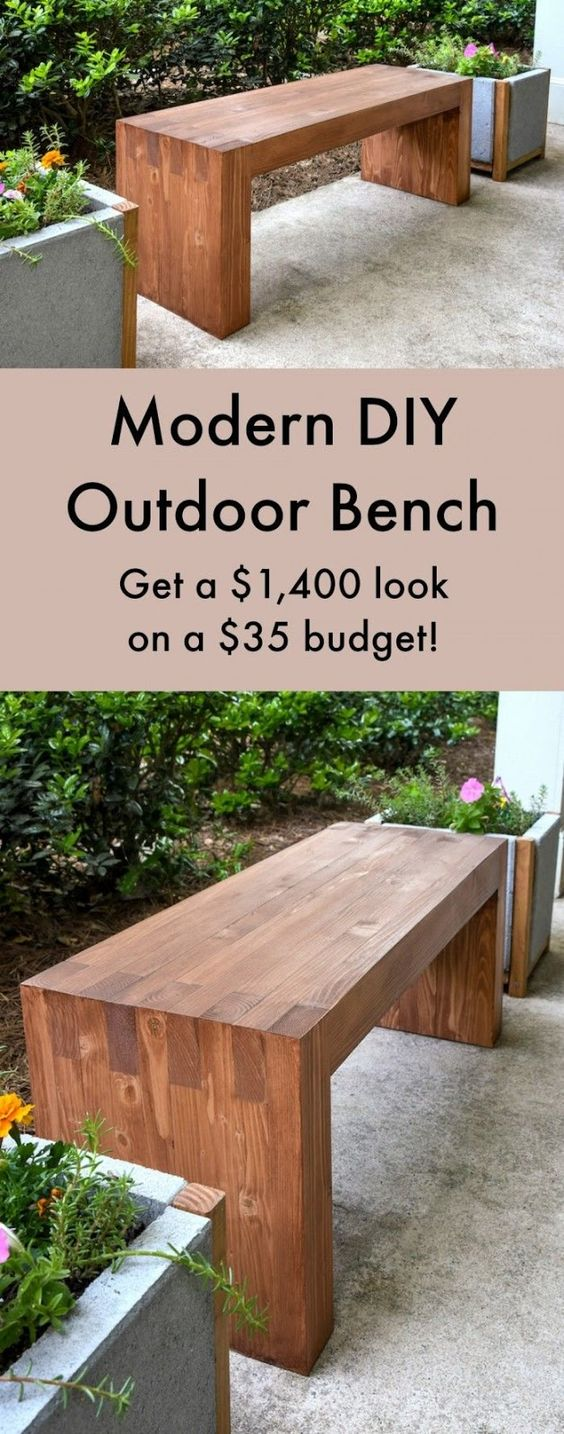 williams sonoma diy outdoor replica bench