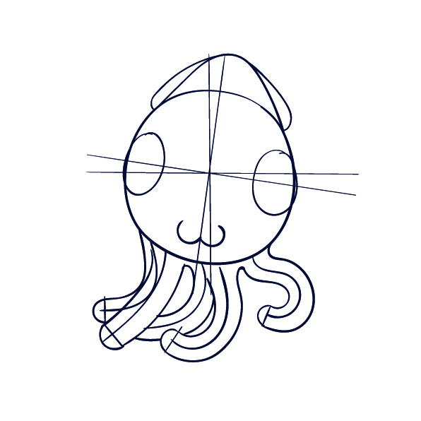 Learn how to draw an octopus step by step tutorial for Octopus drawing easy