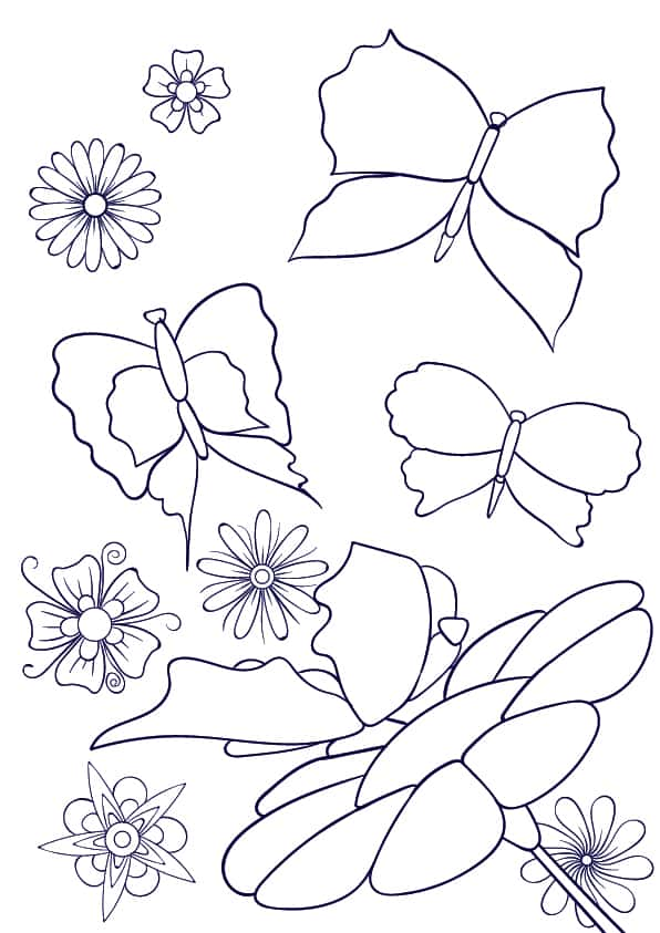 07 Learn How to Draw a Butterfly on a Flower - Cartoon Scene Step by Step Tutorial