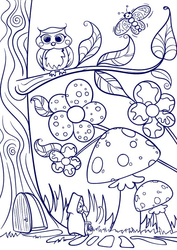 07 Learn How to Draw a Mushroom- Cartoon Scene Step by Step Tutorial