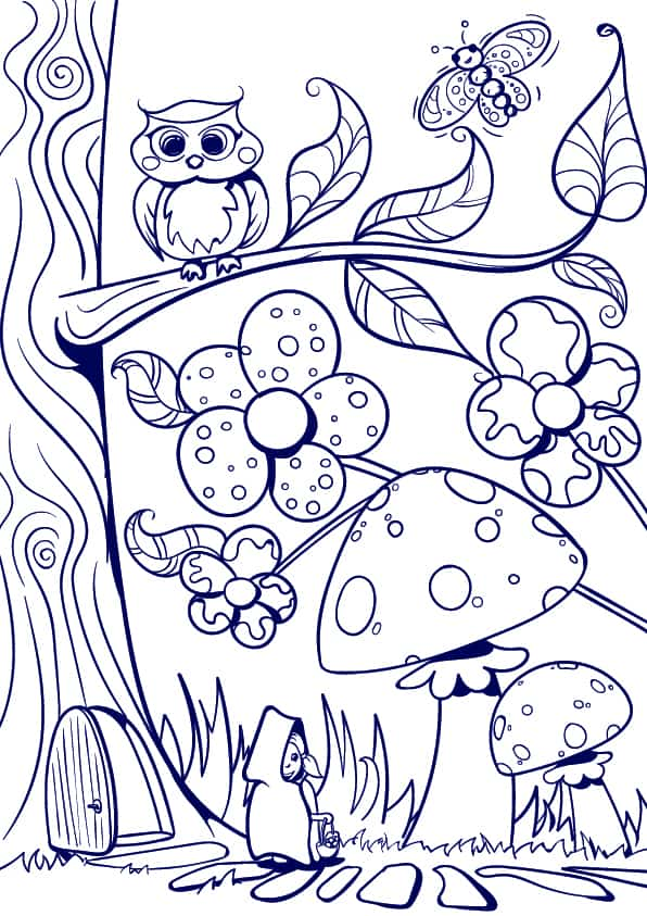 08 Learn How to Draw a Mushroom- Cartoon Scene Step by Step Tutorial