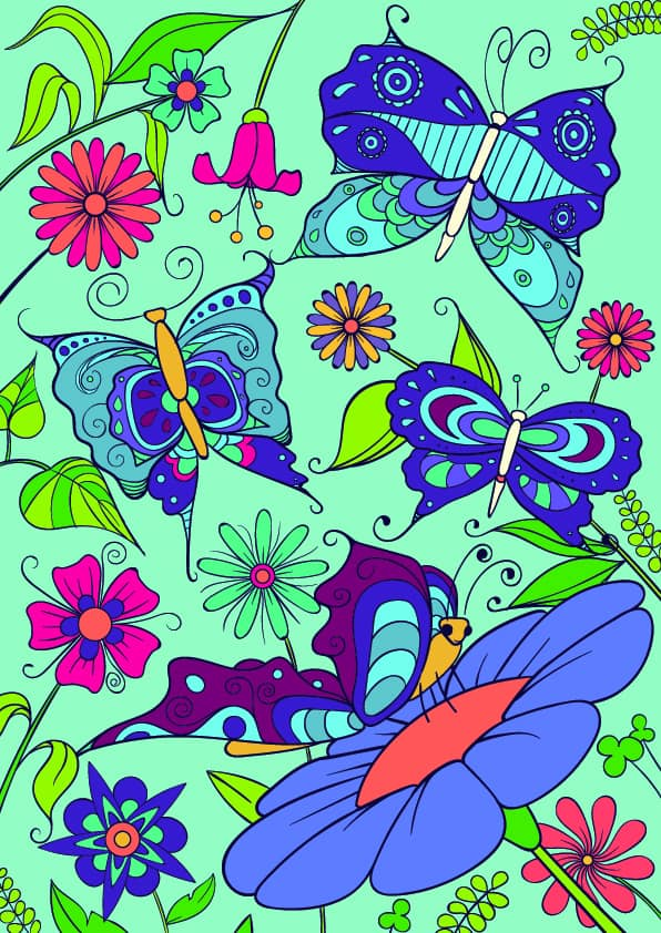 09 Learn How to Draw a Butterfly on a Flower - Cartoon Scene Step by Step Tutorial