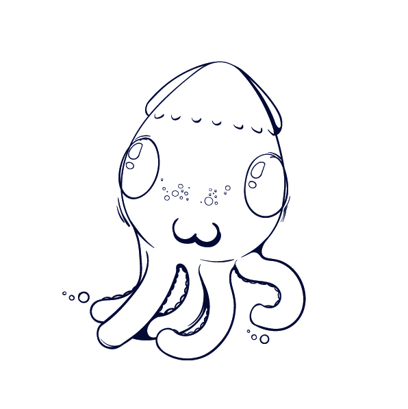 09 Learn How to Draw an Octopus - Cartoon Step by Step Tutorial
