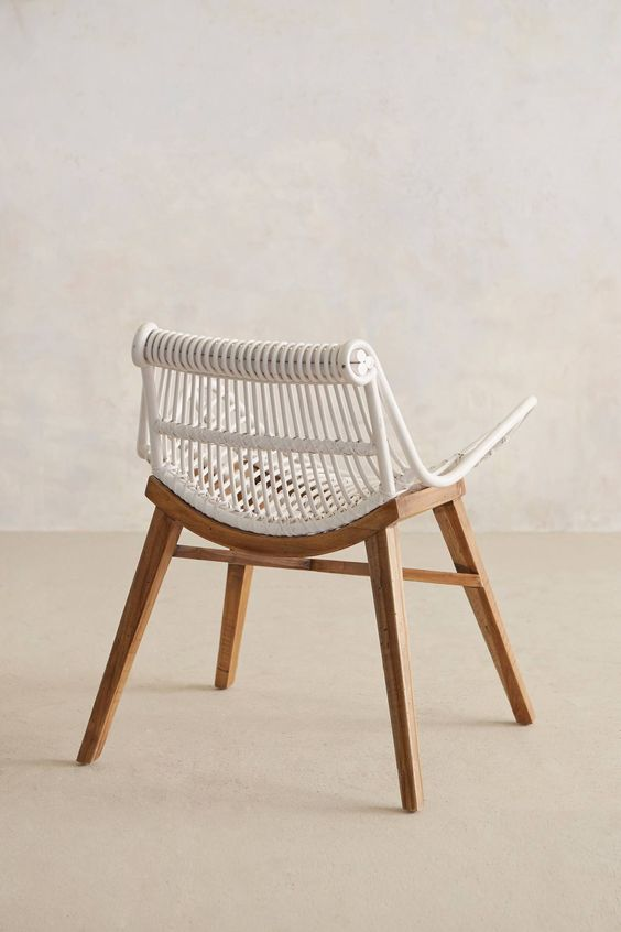 brilliant rattan and wood chair