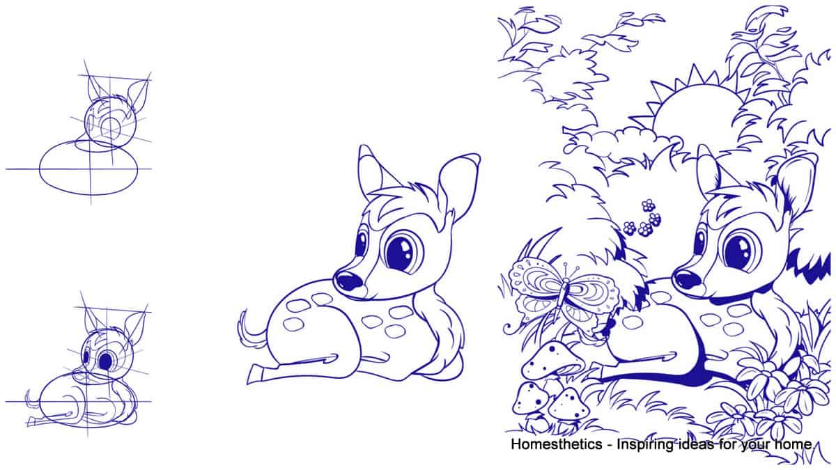 Learn How To Draw A Deer Step By Step Tutorial