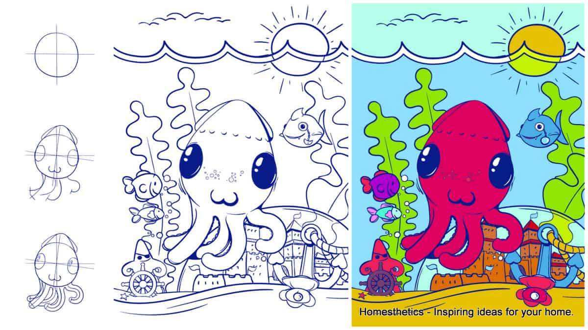 Learn How to Draw an Octopus
