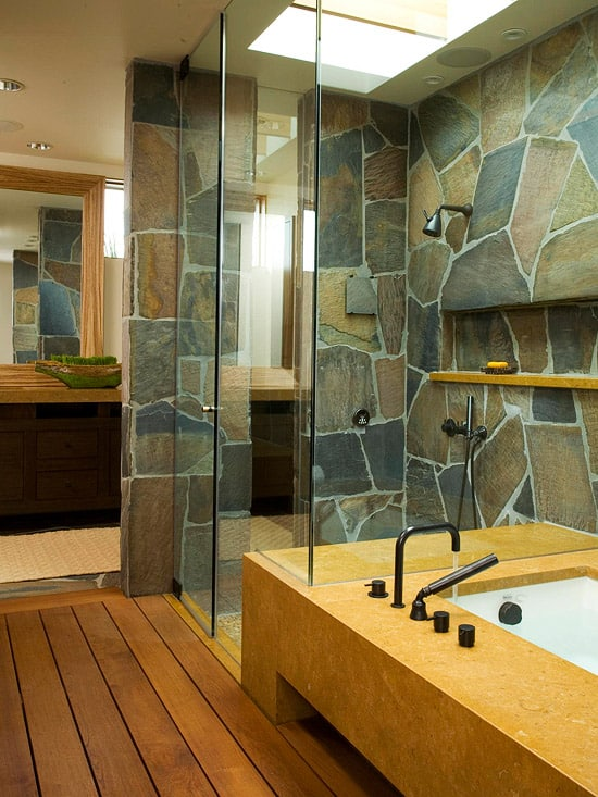 Learn the pros and cons of having a walk in shower - Bathroom glass partition designs ...