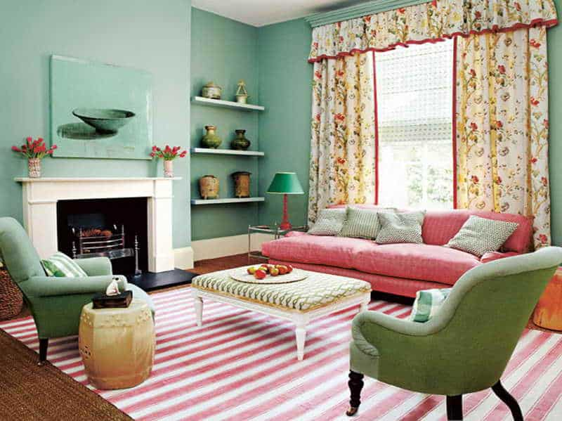 Mint-Green-Room-Ideas-with-striped