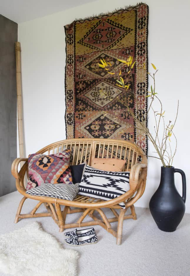 timeless rattan two person couch