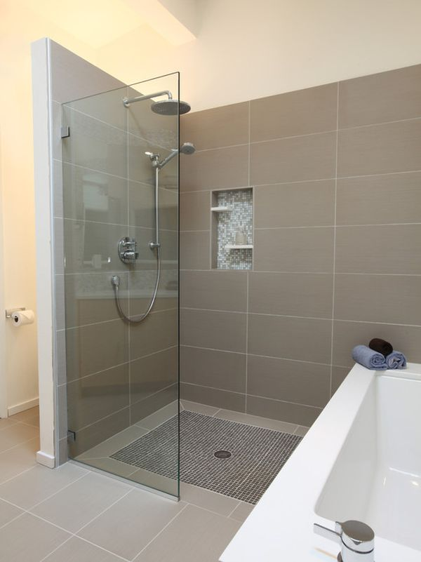 bathroom-design with a walkin shower