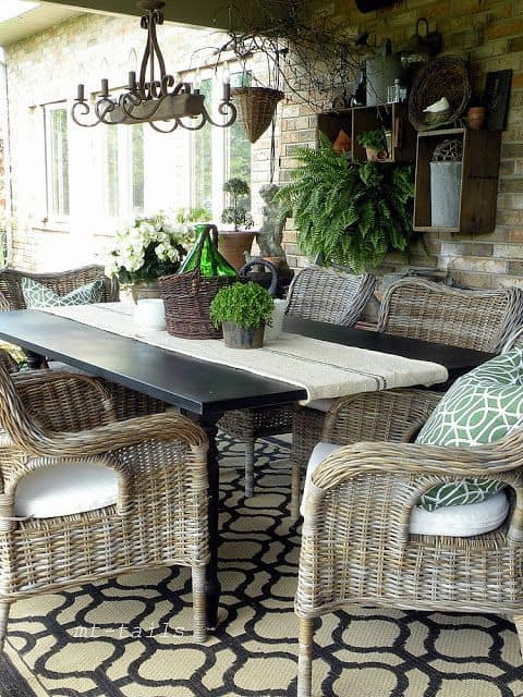 Lovely cool patio natural wicker set