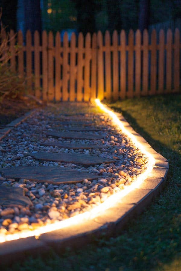 10 Beautiful Ways To Add Light on Your Garden Paths (5)