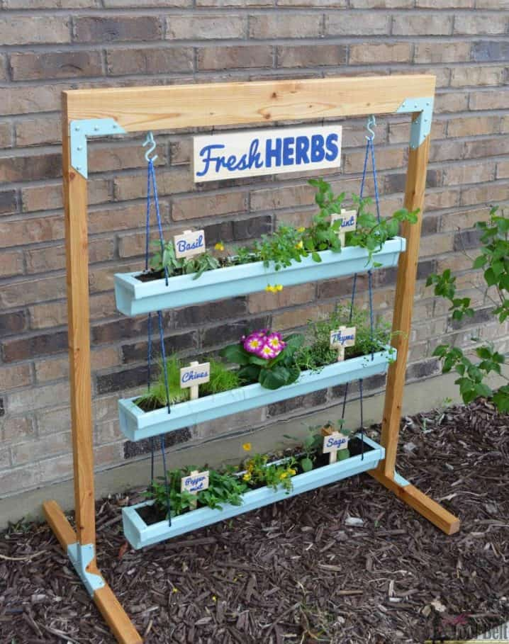 Herb Garden Outdoor Design Cinder Blocks