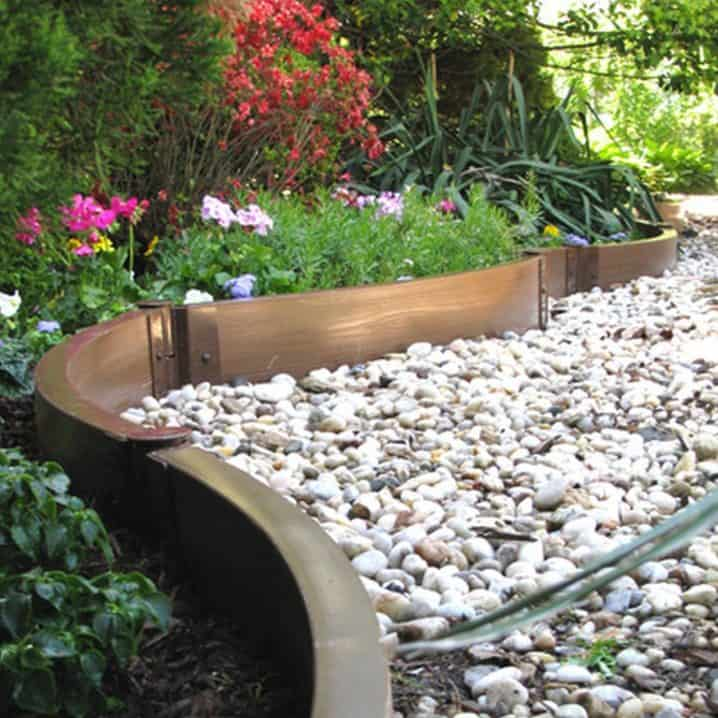 17 simple and cheap garden edging ideas for your garden using gold metal laminate workwithnaturefo