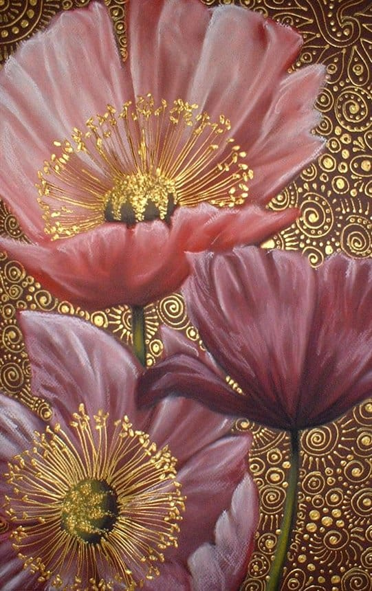 14. ADDING GOLDEN ACCENTS TO AN ACRYLIC PAINTING