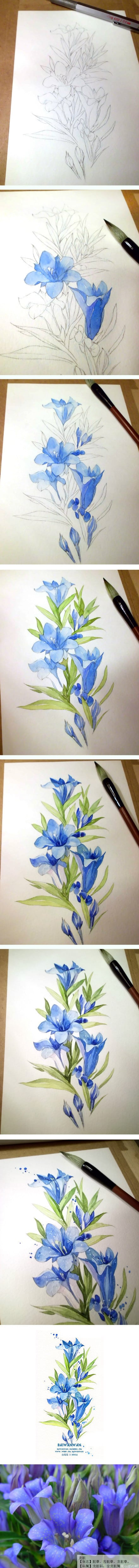 3. BLUE TONES REQUIRE DELICATE WHITE INSERTIONS TO SMOOTH DOWN FOLDS AND ADD LIGHT TO THE IMAGERY