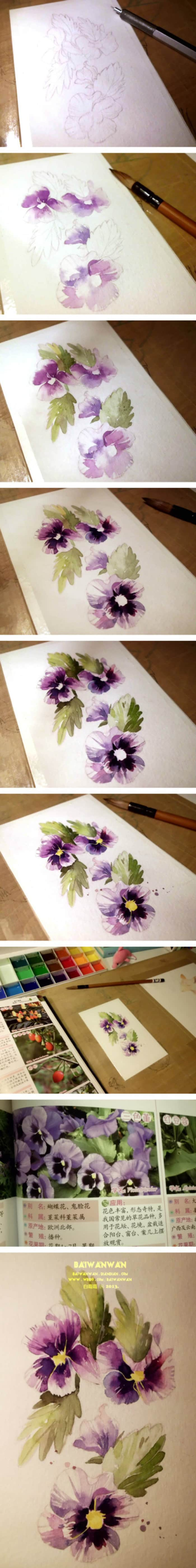 5. WATER-COLORING IS ALL ABOUT LAYERING TONES AND PLAYING WITH WATER