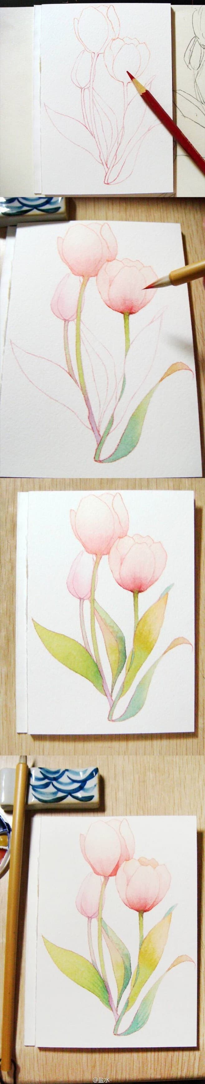 7. START WITH SOME SIMPLE FLOWERS LIKE A BOUQUET OF SPRING TULIPS