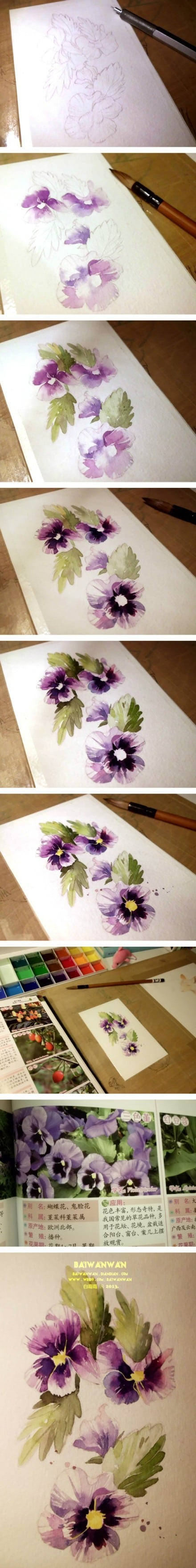 15. START YOUR PAINTING BY ATTACHING THE WATERCOLOR PAPER ON A WOODEN BOARD