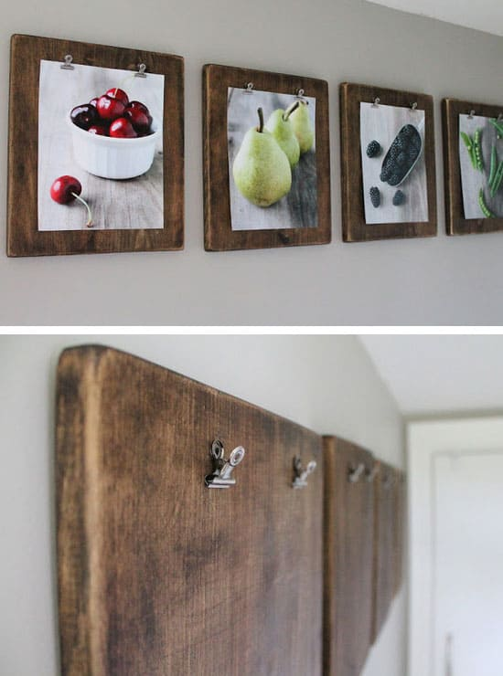 Diy Rustic Picture Frames Ideas