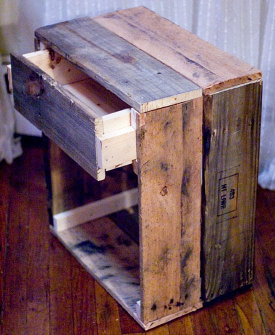 Beau 16. Add Side Tables To Your Bed Using Recycled Wood