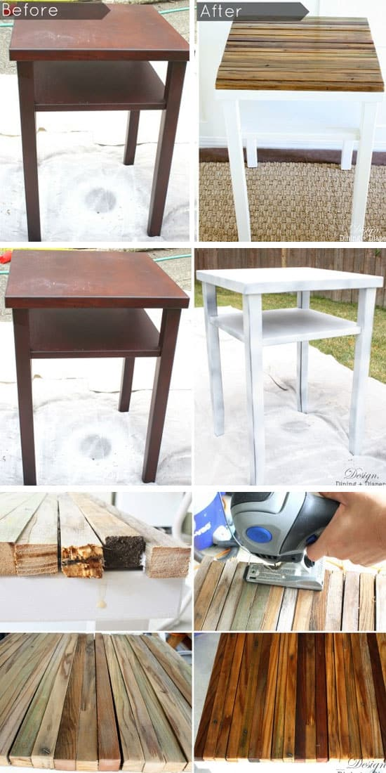 DIY-Side-Table-Makeover-With-Naturally-Distressed-Wood