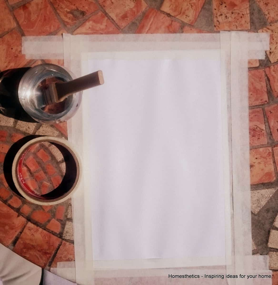3. PREPARE THE PAPER AND FIX IT TO YOUR WORKING GROUND