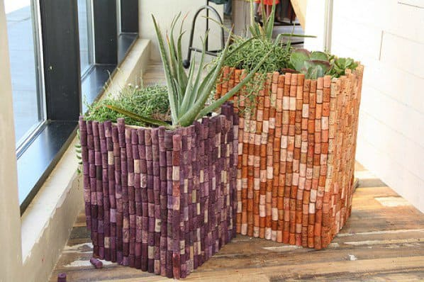 Ingenious Wine Cork Planters For Your Little Plants (8)