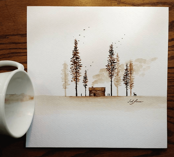 Learn The Basic Coffee Painting Techniques For Beginners - Ideas And Projects-homesthetics (1)